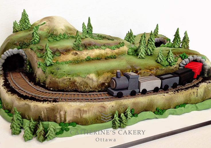 189 Best Train Cakes Images On Pinterest Train Cakes