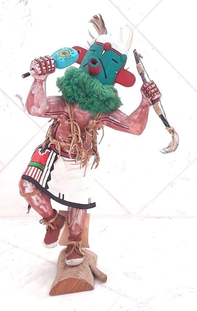 Native American Hopi Kachina (Katsina) Doll Figure - Old Handmade Indian Artwork