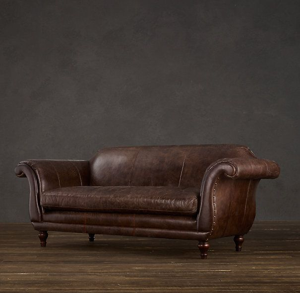 my perfect sofa the regency leather sofa from restoration hardware classic lines and a single cushion oh the sunday naps