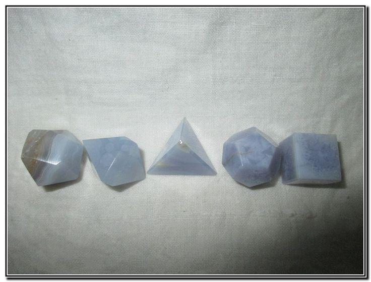 Geometry Sets - Blue Lace Agate