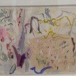 Elisabeth Cummings - Currumbin Creek mangroves - gouache on paper - 46x76cm - $3800
