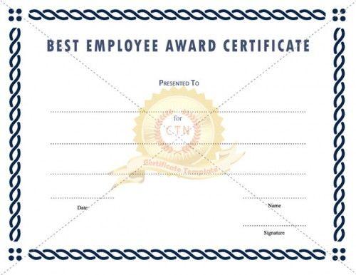 28 best Employee Award images on Pinterest Award certificates