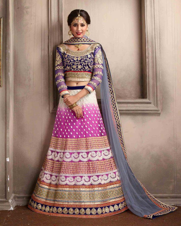 Off   White & Pink luxuriant Embroidered Net Buy Lehenga Choli Online       Fabric:   Net       Work:   Embroidered       Type:   Buy Lehenga Choli   Online       Color:   Off White & Pink                 Lehanga   Fabric   Net