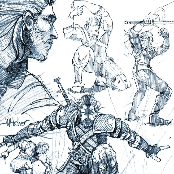 Witcher sketches, Marko Pudar on ArtStation at http://www.artstation.com/artwork/witcher-sketches