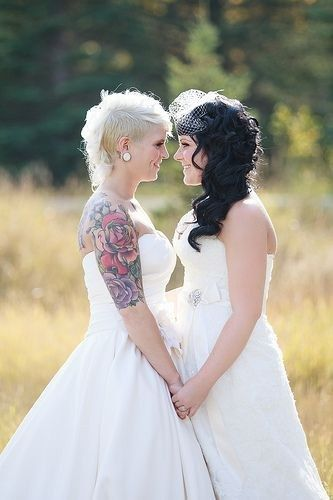 <b>Two brides are better than one.</b>
