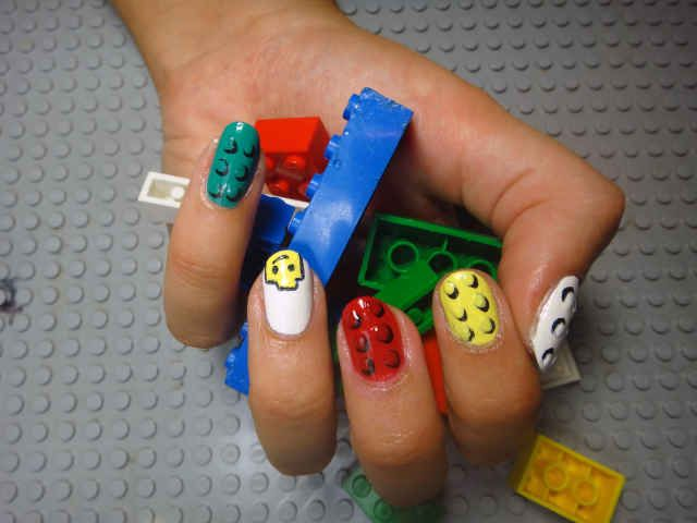 LEGO Nail Art: An Adorably Nostalgic Manicure - xoVain