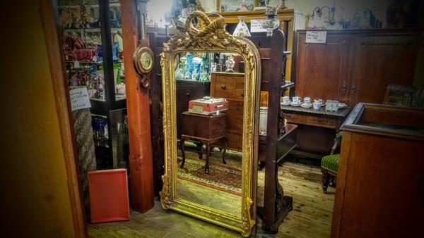 GA1012   -   Ornate Gilted English Mirror c1820