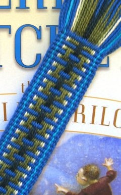 Handwoven Blue Patterned Bookmark by etsy's laceupandrun