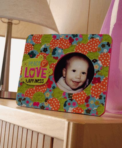 The one inch punch papered frame. - Mod Podge Rocks