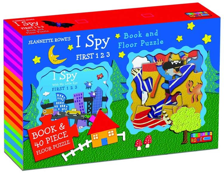 I Spy With Little My Eye First 123 Book and Floor Puzzle