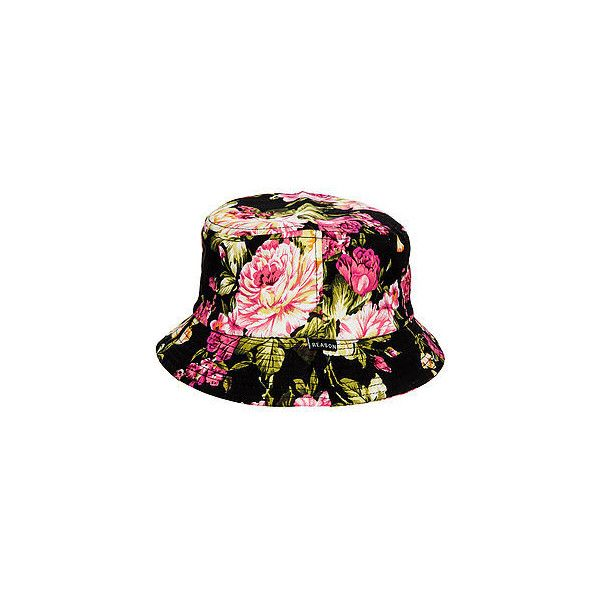 Reason Hat The Floral Bucket in Multi ($10) ❤ liked on Polyvore