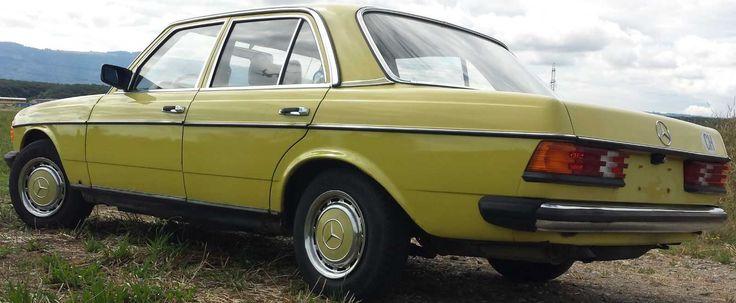 MERCEDES 230 (W123) aus 1978 - Mimosengelb - von Schweiz - schon verzollt