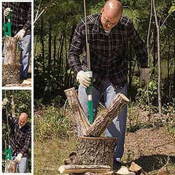"""Super Firewood Splitter >  Total height from base: 55"""". Maximum diameter of log recommended: 24"""". Maximum recommended height of the log base: 14"""". Recommended diameter of the log base: 14"""" to 15"""". Weight of striking w... Check more at http://farmgardensuperstore.com/product/super-firewood-splitter/"""