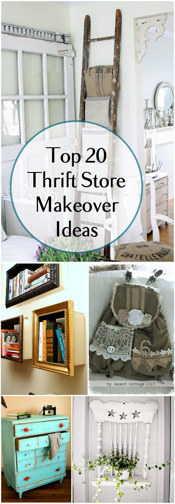 Top 20 Thrifts Store Makeover Projects. Amazing tips, projects and tutorials for your thrift store treasures