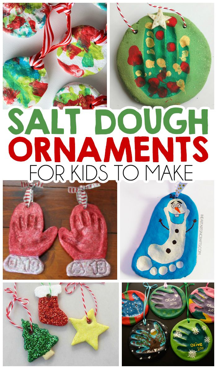 27 Christmas Salt Dough Ornaments For Kids To Make