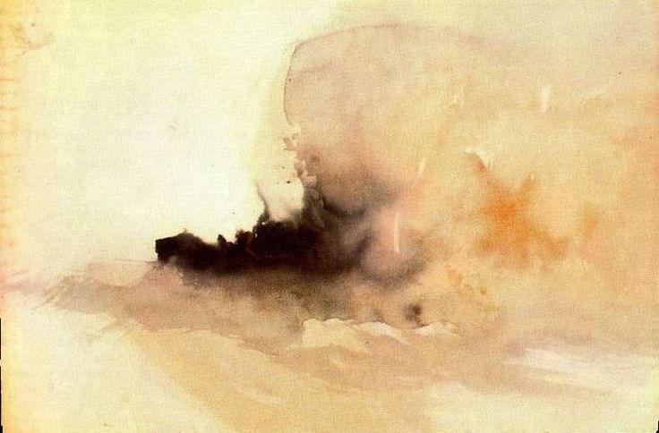 Burning ship, 1826 JMW Turner, almost abstract, how did he do it? And he made a lot of aquarels!!