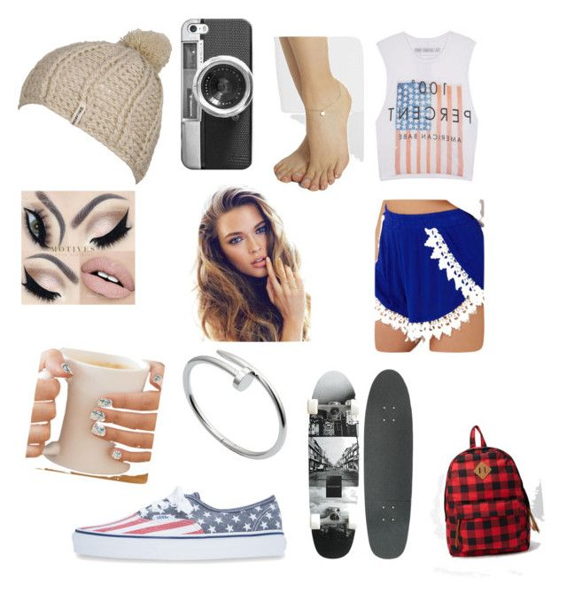 """Skater Girl"" by masterofdolls on Polyvore featuring interior, interiors, interior design, home, home decor, interior decorating, The Laundry Room, Casetify, Vans and Sophie Bille Brahe"