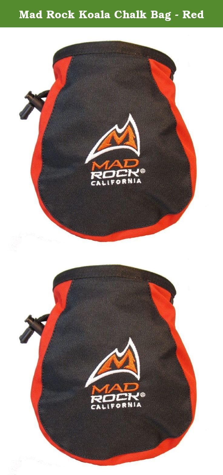 Mad Rock Koala Chalk Bag - Red. Beautifully designed chalk bag with stiff, easy-access rim and tooth brush holder. Waist belt included!.