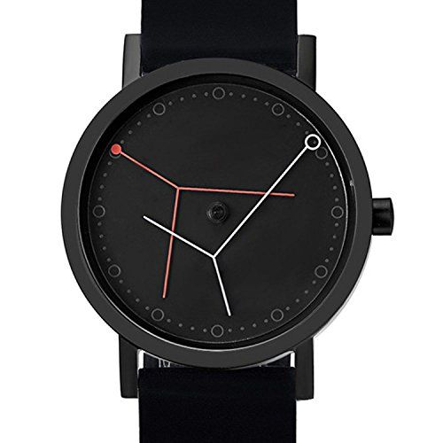 "Projects 7294B Unisex ""Ora Major"" Inox Steel IP Silicon Band Black Watch"