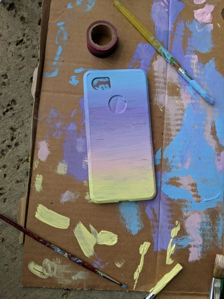 I Just Painted My Phone Case With Acrilic Paint Phonecase
