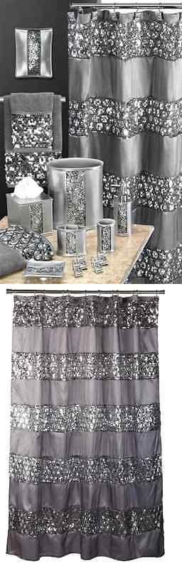 Shower Curtains 20441: Popular Bath Sinatra Silver Shower Curtain Shower Decor Curtain Home, New -> BUY IT NOW ONLY: $32.19 on eBay!