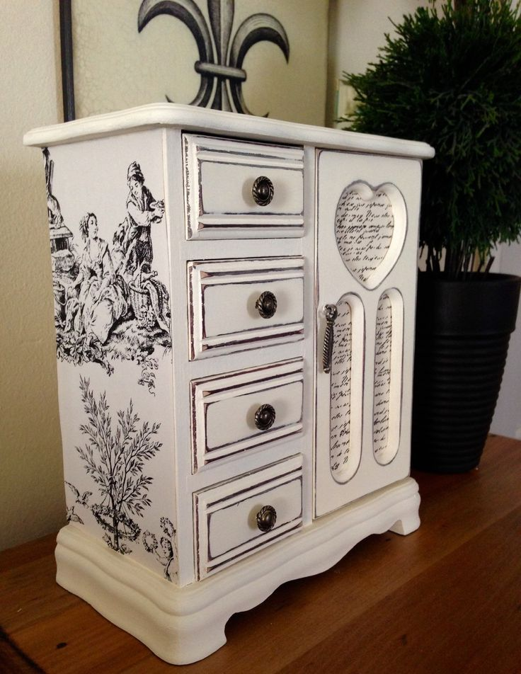 211 best images about painted jewelry box ideas on for Old jewelry box makeover