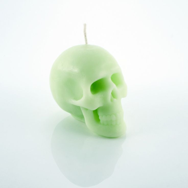 Green Apple Scented Skull Candle by HILD. #skull #candle #skullcandle
