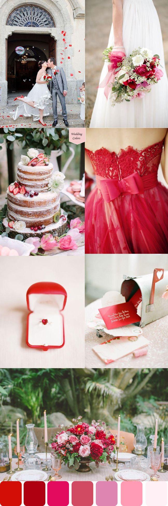 Red & Pink Valentines Inspired Wedding Palette