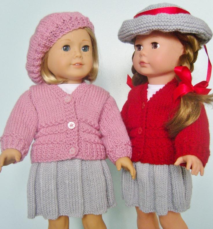 American Girl Doll Cardigan Knitting Pattern