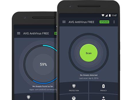AVG Antivirus para IU principal de Android