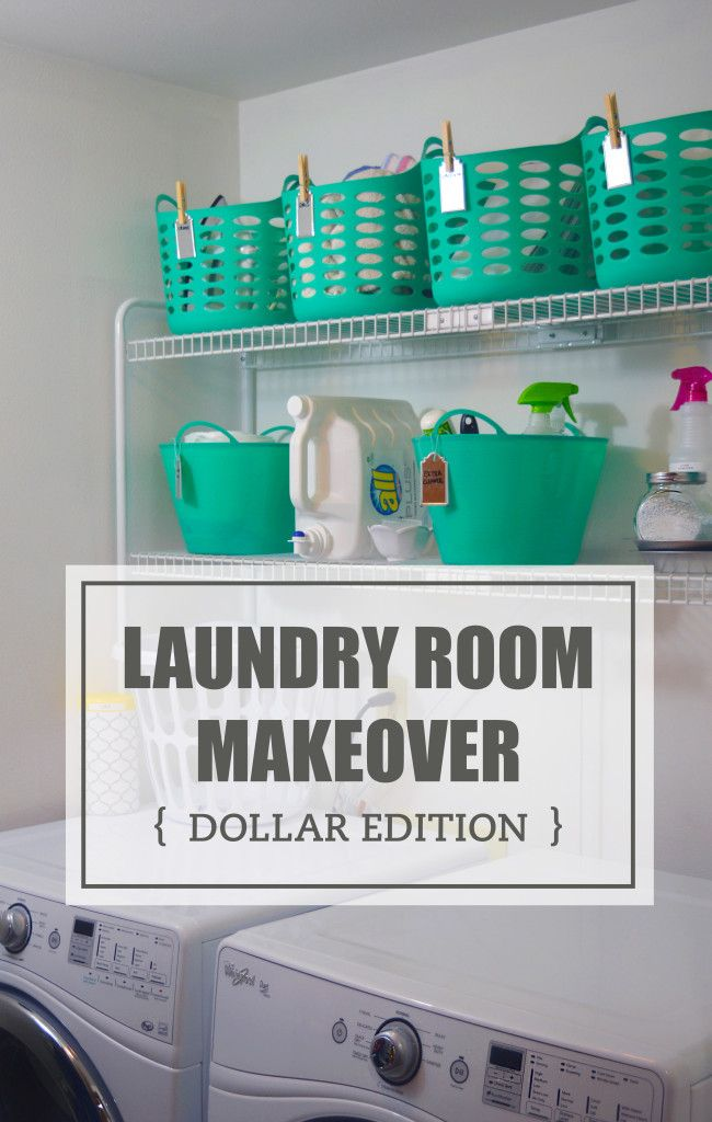 Dollar Makeover Laundry Room Dollar Store & Target creative solutions. Nikki Jayne Papery.
