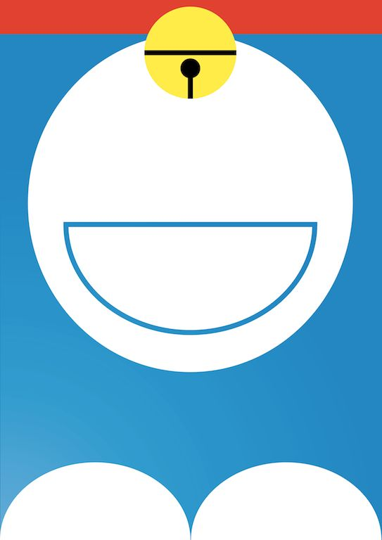 Doraemon Minimal Series on Behance