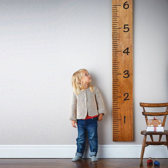 Giant Ruler Growth Chart Wall Decal by DecalGuruWallDecals on Etsy