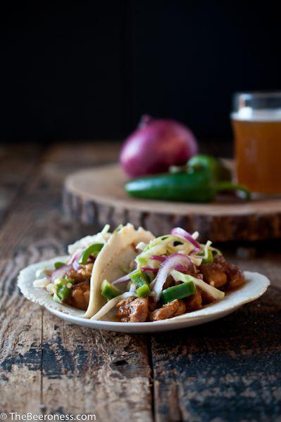 Slow Cooker Beer Chicken Tacos