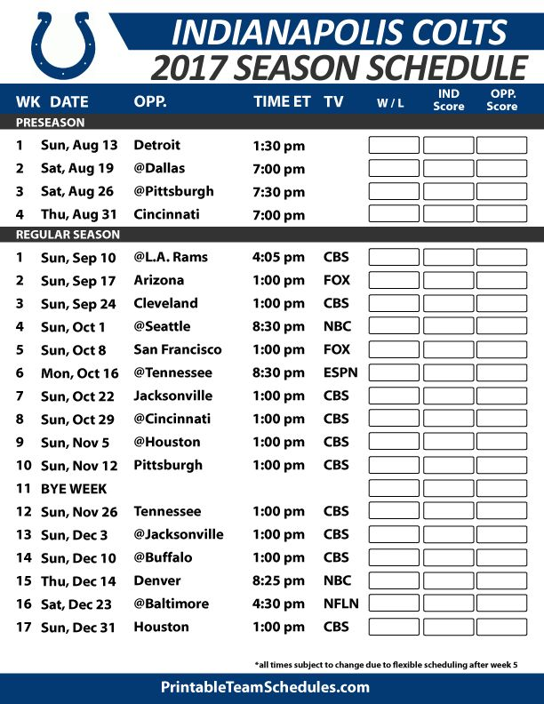 Hilaire image throughout colts schedule printable