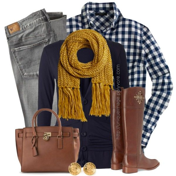 Navy, mustard & brown.