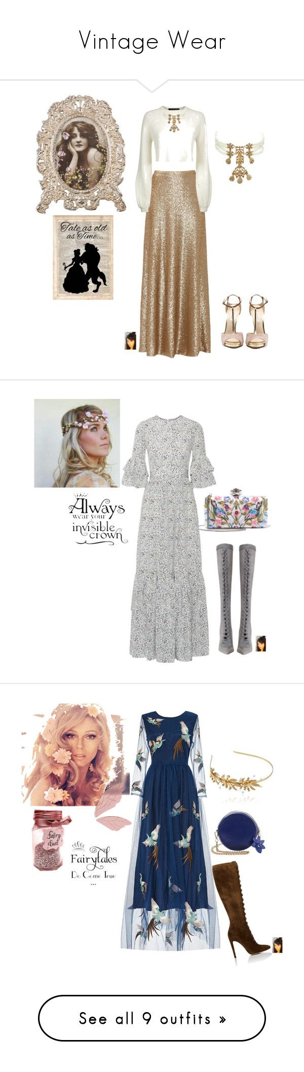 """""""Vintage Wear"""" by gaya-vas ❤ liked on Polyvore featuring Kenneth Jay Lane, Slate & Willow, Jaeger, Disney, vintage, CO, Zimmermann, Alexander McQueen, Gianvito Rossi and Linni Lavrova"""