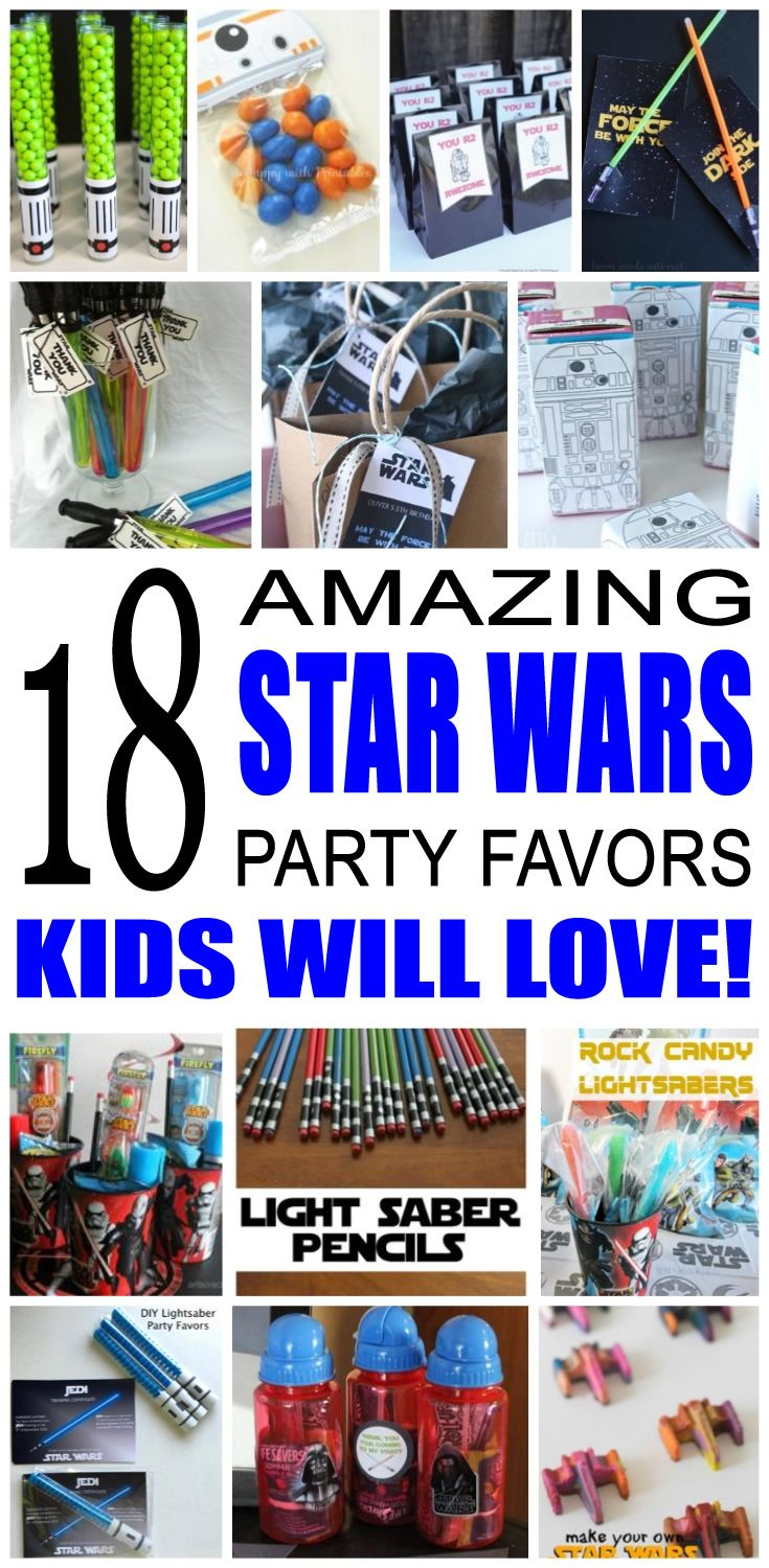 Fun kids star wars party favor ideas. Try these diy star wars party favors for boys and girls. Here are some easy goody bags and treats to say thank you to the friends of that special birthday child.
