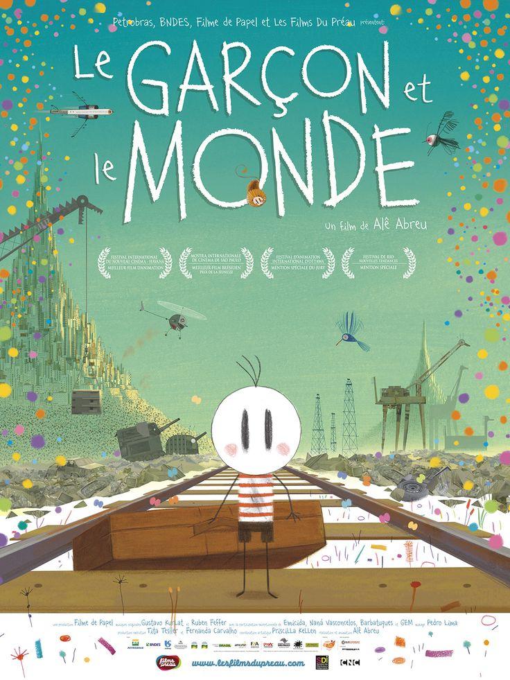 Le Garçon et le Monde est un film de Alê Abreu avec . Synopsis : À la recherche de son père, un garçon quitte son village et découvre un monde fantastique dominé par des animaux-machines et des êtres étranges.&