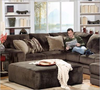 . Chocolate Brown Sectional   Decor   Home decor  Home living room  Home