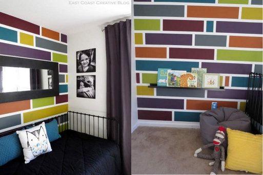 Cómo pintar la pared en forma de mosaico