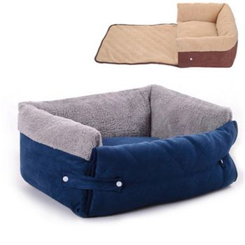 Small Dog Sleeping Sofa Multifunction Dogs Beds Mat Blanket Washable Cat House with Mat Cover for Pug Teddy Maltese Dog