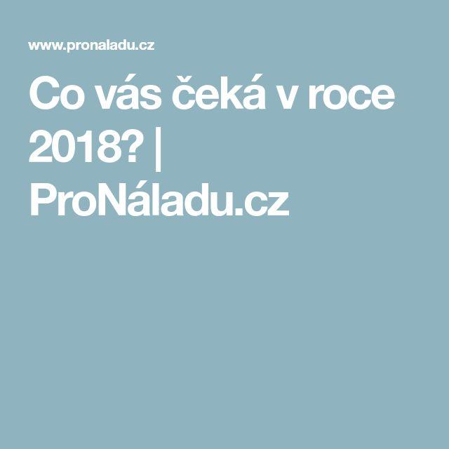 Co vás čeká v roce 2018? | ProNáladu.cz