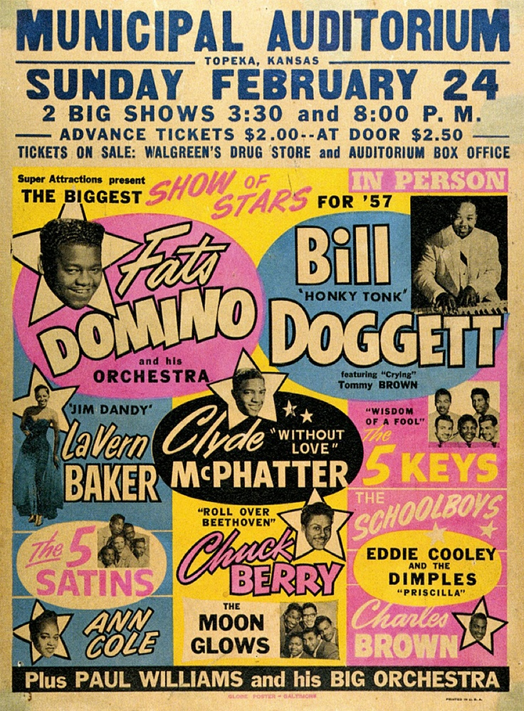 """Classic R & B / Rock 'n Roll Concert Poster: """"The Biggest ..."""