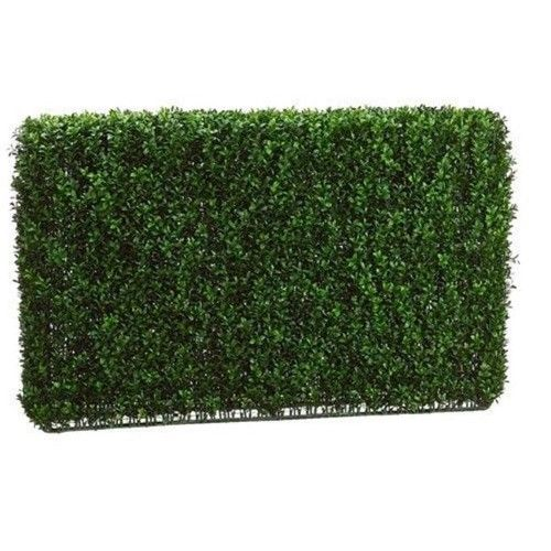 Allstate Floral 24 In. L Boxwood Hedge Two Tone Green, As Shown