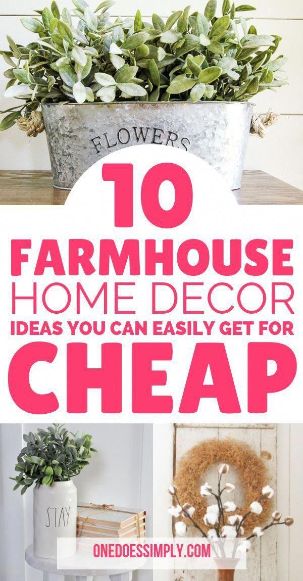 10 DIY Home Decor Ideas with Farmhouse Style You Can Do On A Budget | DIY Home Decor | DIY home decor on a budget | cheap diy home decor ideas | diy h…