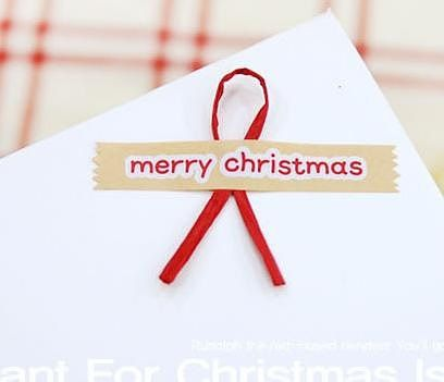 Korean Christmas Craft Paper Sticker  8 sticker