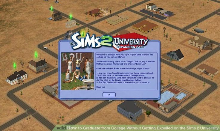 Graduate from College Withoout Getting Expelled on the Sims 2 University