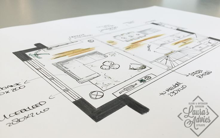 Presentatie tekening | Interieurontwerp nieuwbouwproject Koningsdaal Nijmegen