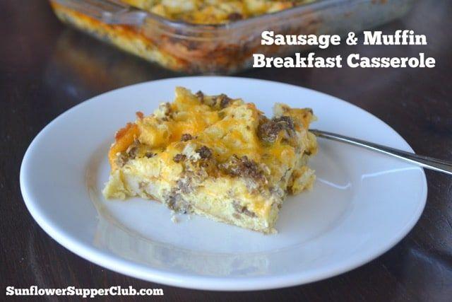 Sausage & Muffin Breakfast Casserole